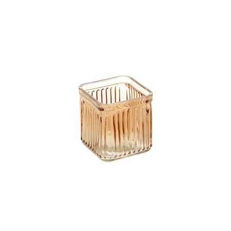 Duif Wholesale - Glass - Candle holder Blain Brown - Brown