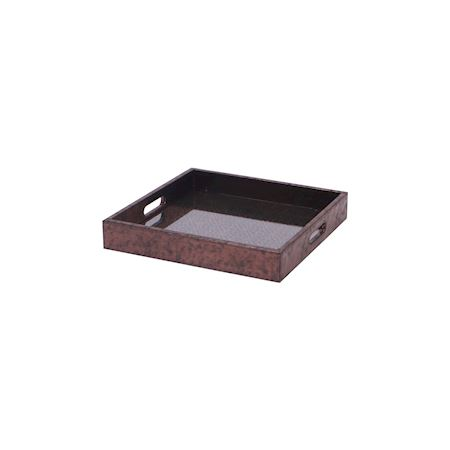 MAR10collection - Wood - Tray Bachant Metallic Copper - Brown