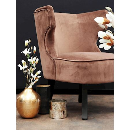 MAR10collection - Fabric - Chair Baylis Chocolat - Brown