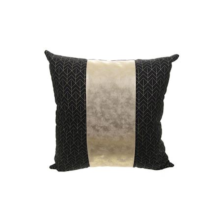 MAR10collection - Leather/PU - Cushion Achicourt Black - Black