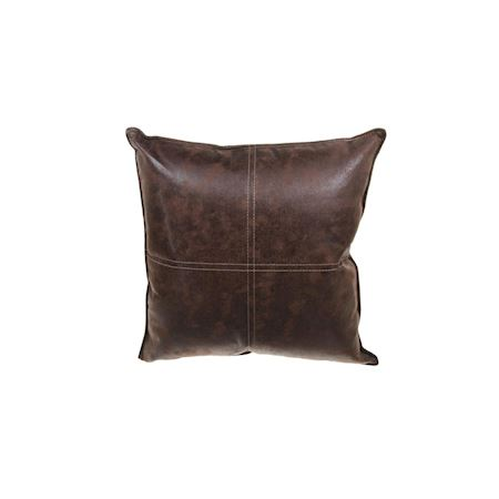 MAR10collection - Leather/PU - Cushion Aignay Chocolat - Brown