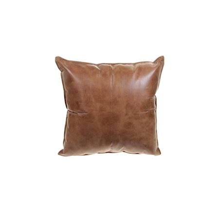MAR10collection - Leather/PU - Cushion Aignay Brown - Brown