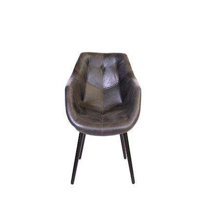 MAR10collection - Leather/PU - Chair Arques Black - Black