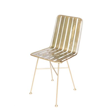 MAR10collection - Metal - Chair Lacourt Gold - Gold