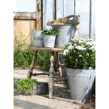 Basic Collection - Zinc - Planter Ginco Grey - Grey
