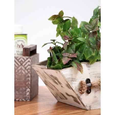 Duif Wholesale - Wood - Planter Nichola White - White