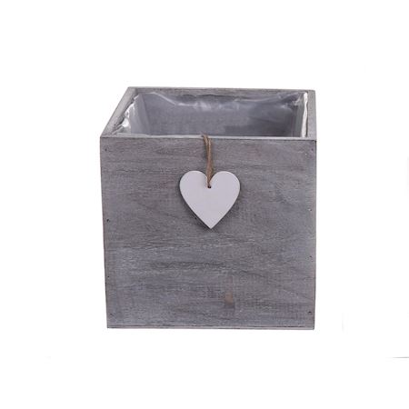 Duif Wholesale - Wood - Planter Easley Grey - Grey