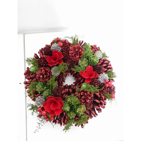 Duif Wholesale - Other - Wreath Christey3 Red - Red