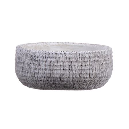 Duif Wholesale - Concrete - Planter Bory Oval White - White