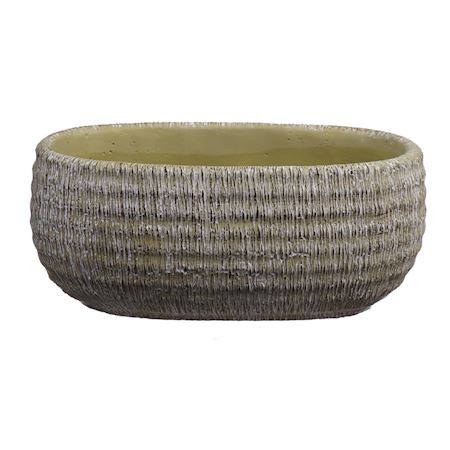 Duif Wholesale - Concrete - Planter Bory Oval Apple - Green