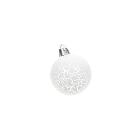 Colombier Collection - Synthetics - Christmas ball Cresco White - White
