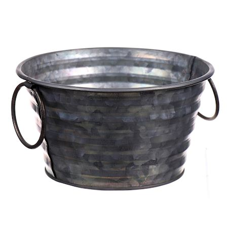 Duif Wholesale - Zinc - Planter ribear1 Antique - Grey
