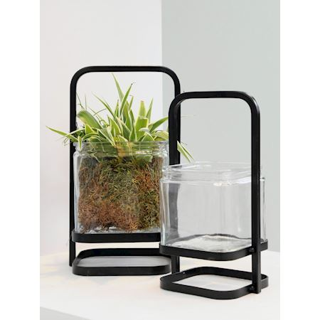Duif Wholesale - Metal - Planter Candia Black - Black