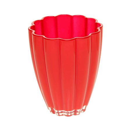 Duif Wholesale - Glass - Vase Bloom Red - Red