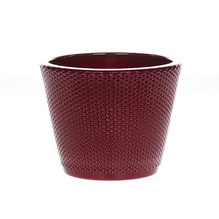Duif Wholesale - Ceramics - Pot Kamryn Dots finish Ruby - Red